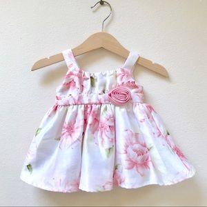 FAO Schwarz Newborn Formal Floral Dress